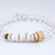 Clear Quartz Crystal with Painted Beads