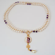 Krishna Mala with Pearls and Amethyst