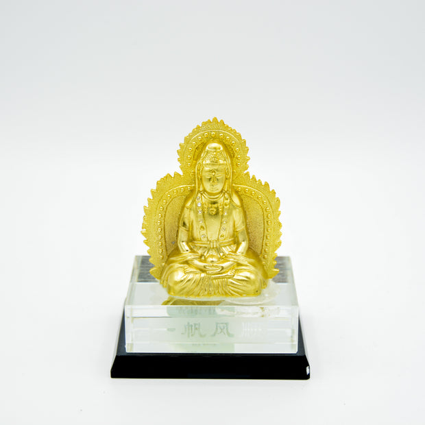 Kuan Yin Two Sided Gold painted