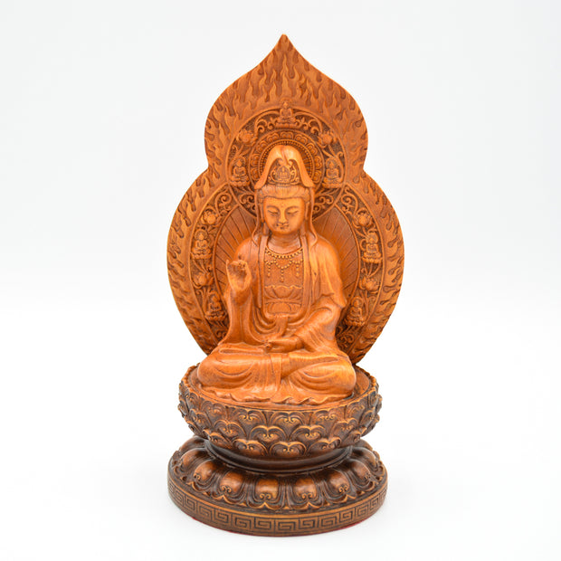 Kuan Yin Faux Wood