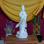 Kuan Yin Standing on Lotus, 12.5 Inches