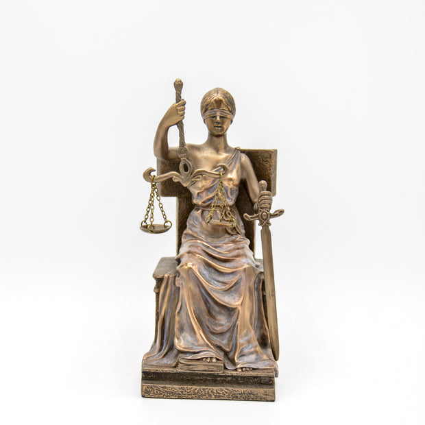 Lady Justice Seated, Bronze