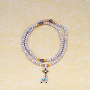 Lotus Seed Mala with several other beads