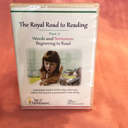 Montessori Royal Road to Reading Part 1-3 plus Vocabulary Cards