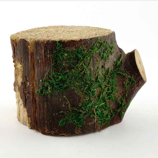 Decorative Mossy Tree Stump for Fairy Garden 4""