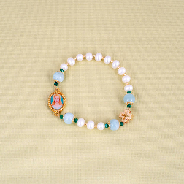Immaculate Heart of Mary Scriptural Rosary Bracelet