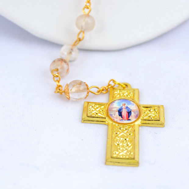 Mother Mary Rosary with pictures