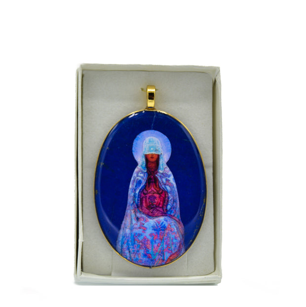 Mother of the World Lapis Pendant, 2 sizes