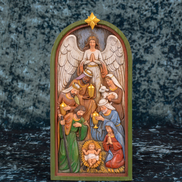 Nativity Plaque, 14 Inches