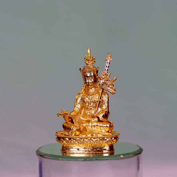 Padmasambhava Golden Small Statue