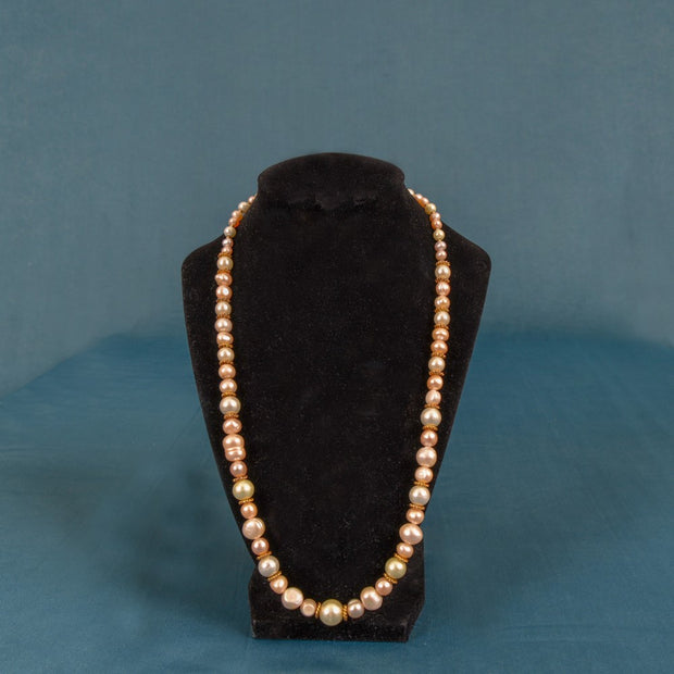 "Pearl 23"" Necklace Set Earrings & Bracelet"