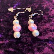 Pink & White Pearl Earring, Bracelet & Necklace Set