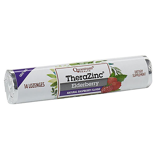 TheraZinc Elderberry Lozenges, Raspberry Flavor, 14 count