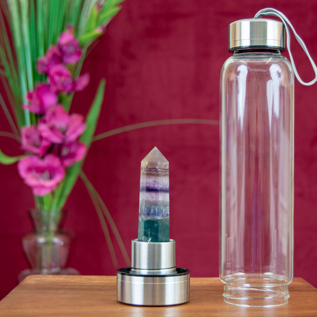 Crystal and Gemstone Water Bottles--Infuse the light and energy of crystals into your water!