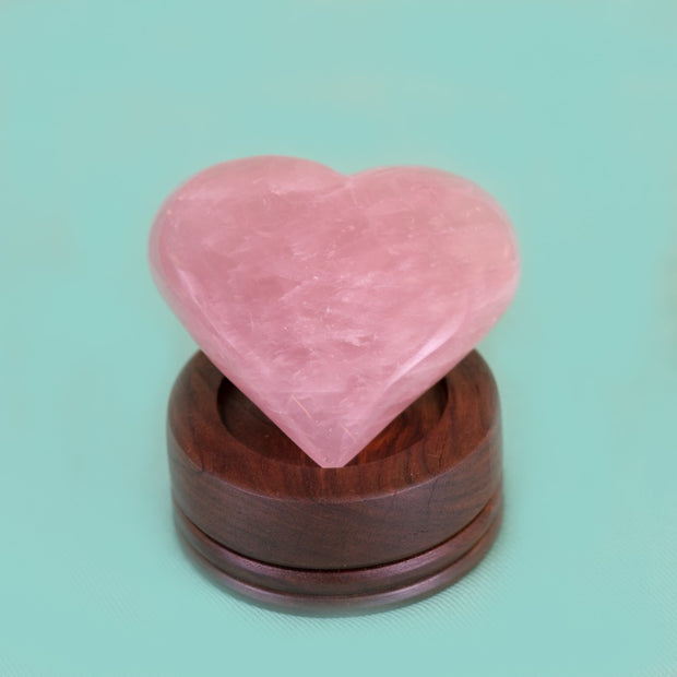 Rose Quartz Heart 5 Inch, 2 lb