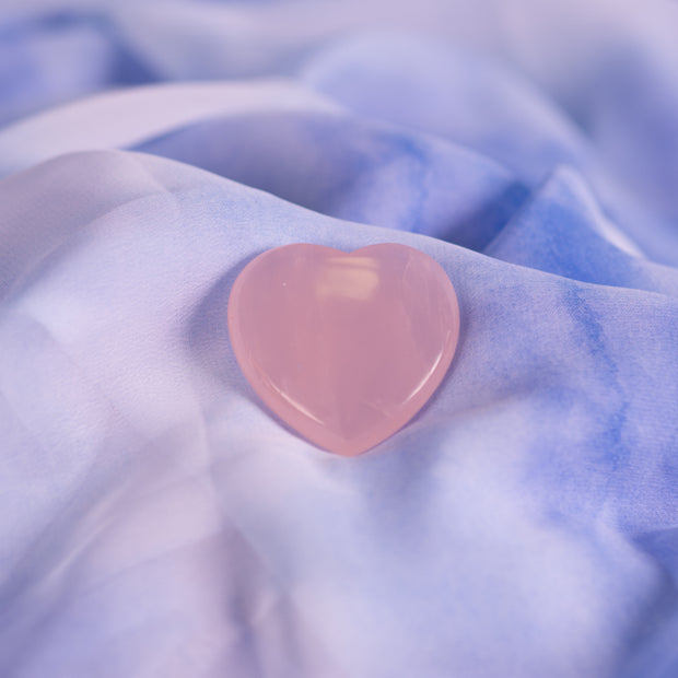Rose Quartz Heart 1 1/2 Inch
