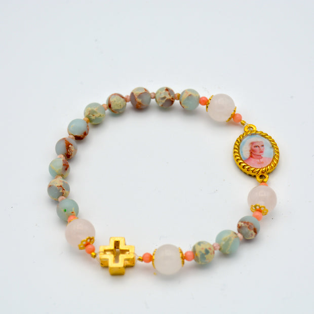 Sanat Kumara and Mother Mary Rosary Bracelet
