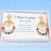 Seven Rays Crystal Earrings