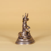 Shiva with Trident and Cow, Brass Statue