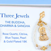 Three Jewels: the Buddha,  Dharma & Sangha; Earrings