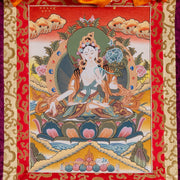 White Tara Thangka, Medium Size