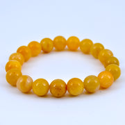 Yellow Jade Bracelet, 10 mm
