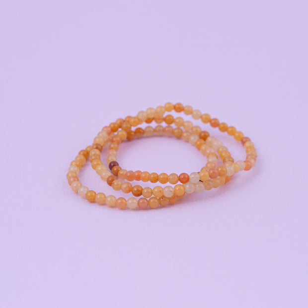 Yellow Jade Bracelet Set of Three