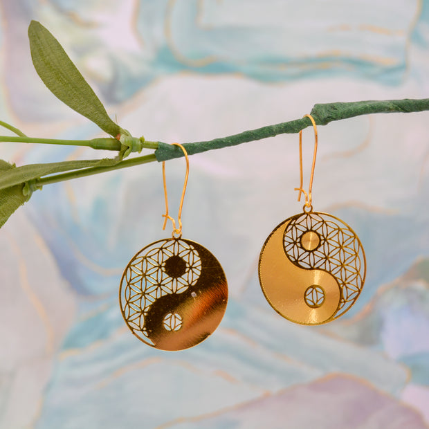 Yin Yang/Flower of Life Earrings