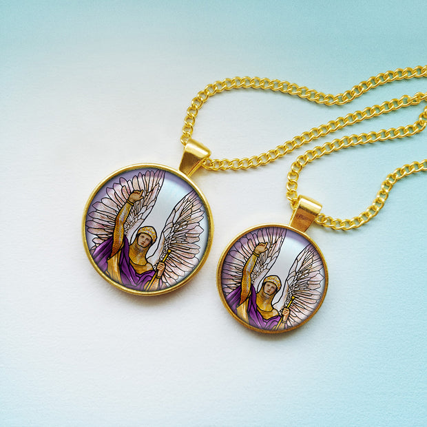 Attract the Radiance of Archangel Gabriel with this Handmade Pendant