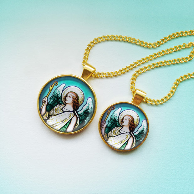 Attract the Radiance of Archangel Raphael with this Handmade Pendant
