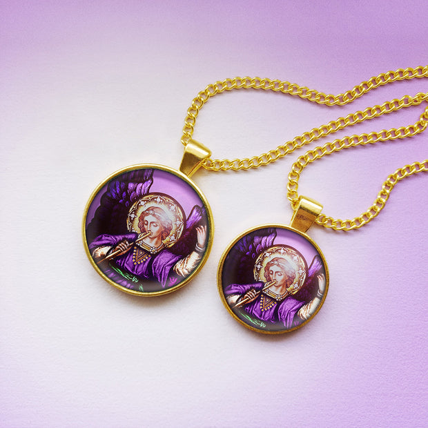 Attract the Radiance of Archangel Zadkiel with this Handmade Pendant