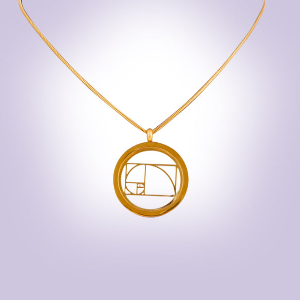 Sacred Geometry Golden Ratio Pendant Necklace