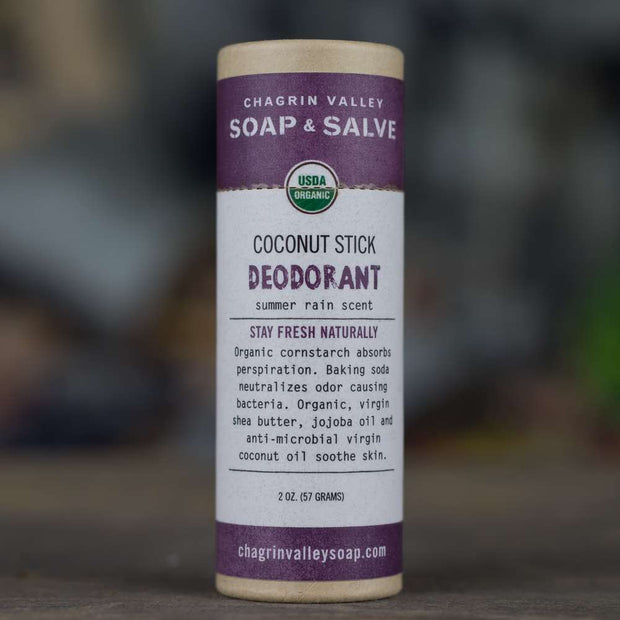 Deodorant: Coconut Stick, Summer Rain