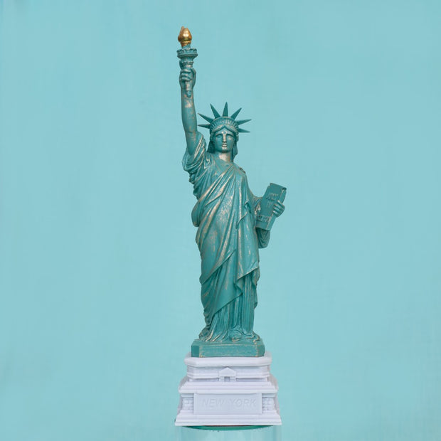 Statue of Liberty Large on White Base