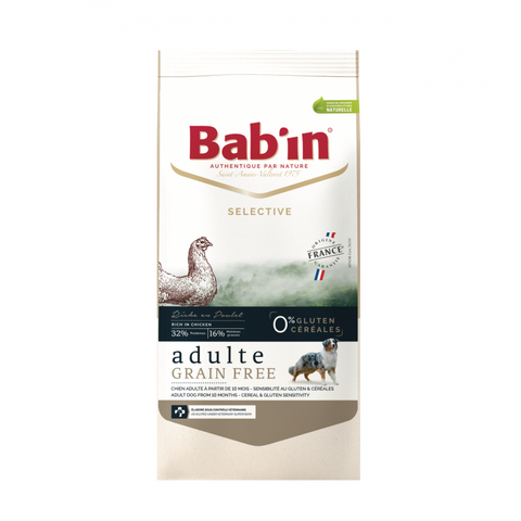 BAB'IN ADULTE GRAIN FREE POULET