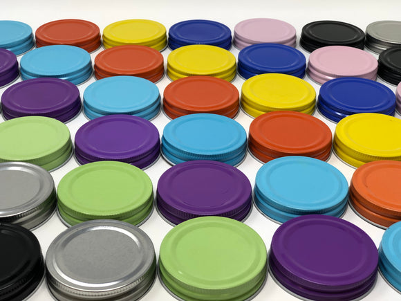 Regular Mouth Mason Jar Lids - 9 Colours to Choose From
