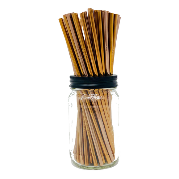 Thin ROSE GOLD Stainless Steel Straws Refill