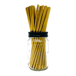 Thin GOLD Stainless Steel Straws Refill