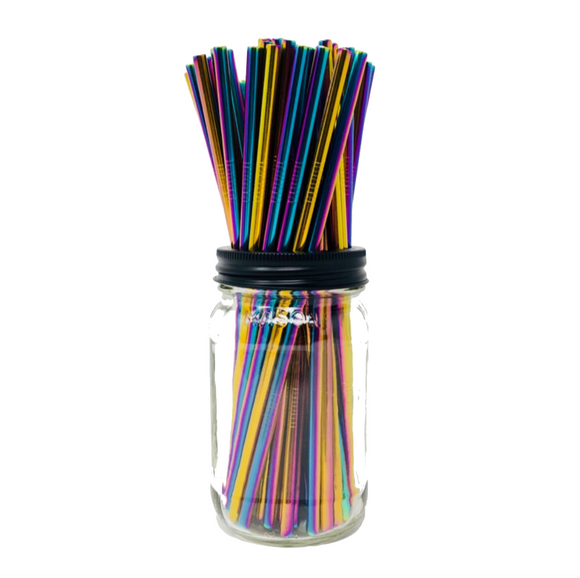 Thin HOLOGRAPHIC Stainless Steel Straws