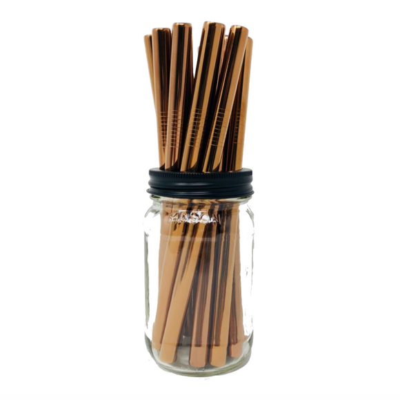 Thick Smoothie ROSE GOLD Stainless Steel Straws Refill