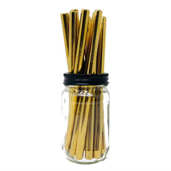 Thick Smoothie GOLD Stainless Steel Straws Refill