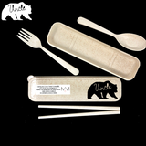 Wheat Straw Cutlery Refill - BEAR FAMILY VERSION - 12 Designs