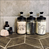 Modern Black Soap Pump Mason Jar Set