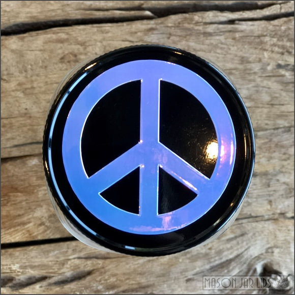 Peace Sign Lid - Special Edition Signature Mason Jar