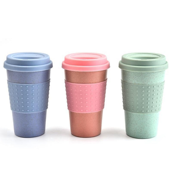 Lot of 10 - Wheat Straw Hot & Cold ReUsable Cup