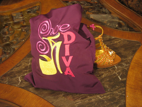 Shoe bag - purple - Shoe Diva
