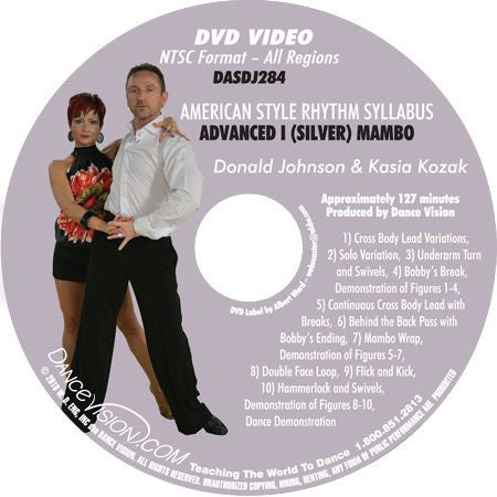 American Style Rhythm DVIDA Syllabus Advanced I (Silver) Mambo DVD