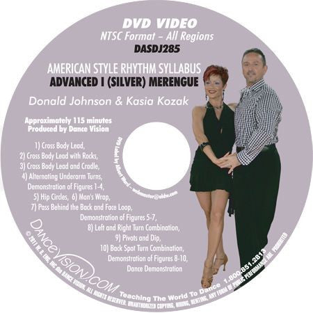 American Style Rhythm DVIDA Syllabus Advanced I (Silver) Merengue DVD
