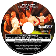 Anyone Can Dance East Coast Swing (Triple) - DVD