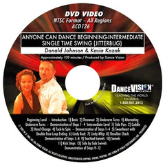 Anyone Can Dance Single Time Swing (Jitterbug) - DVD